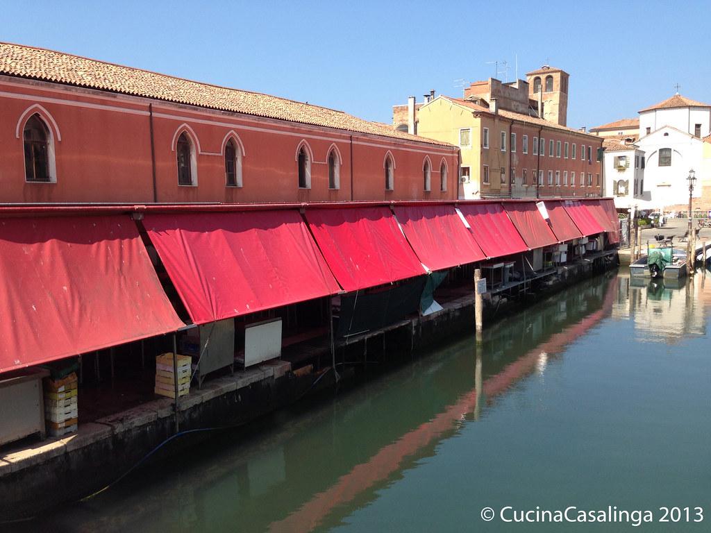 Chioggia Fischmarkt Kanal