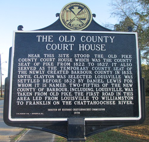 The Old County Court House Marker (Louisville, Alabama)
