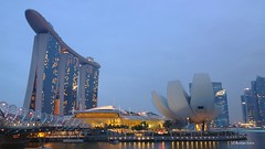 Marina Bay Sands Hotel and Art Science Museum.