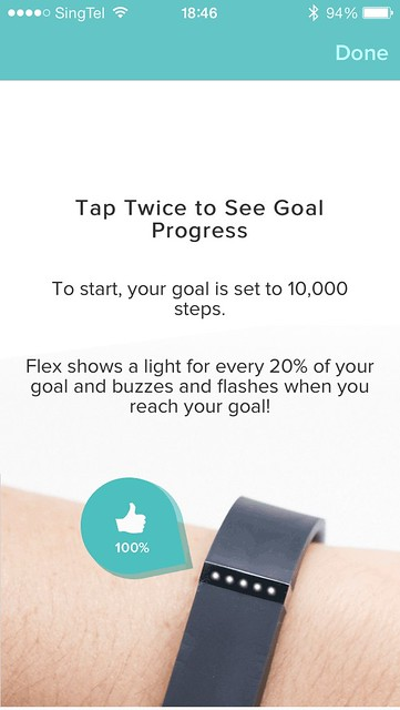 Fitbit Flex iOS App - Step 10