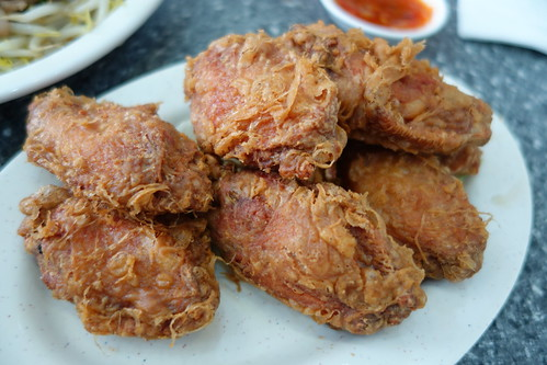 Deep Fried Chicken Wing Marinated in Shrimp Paste (Har Cheong Gai) at Zhen Zhou Dao, Singapore