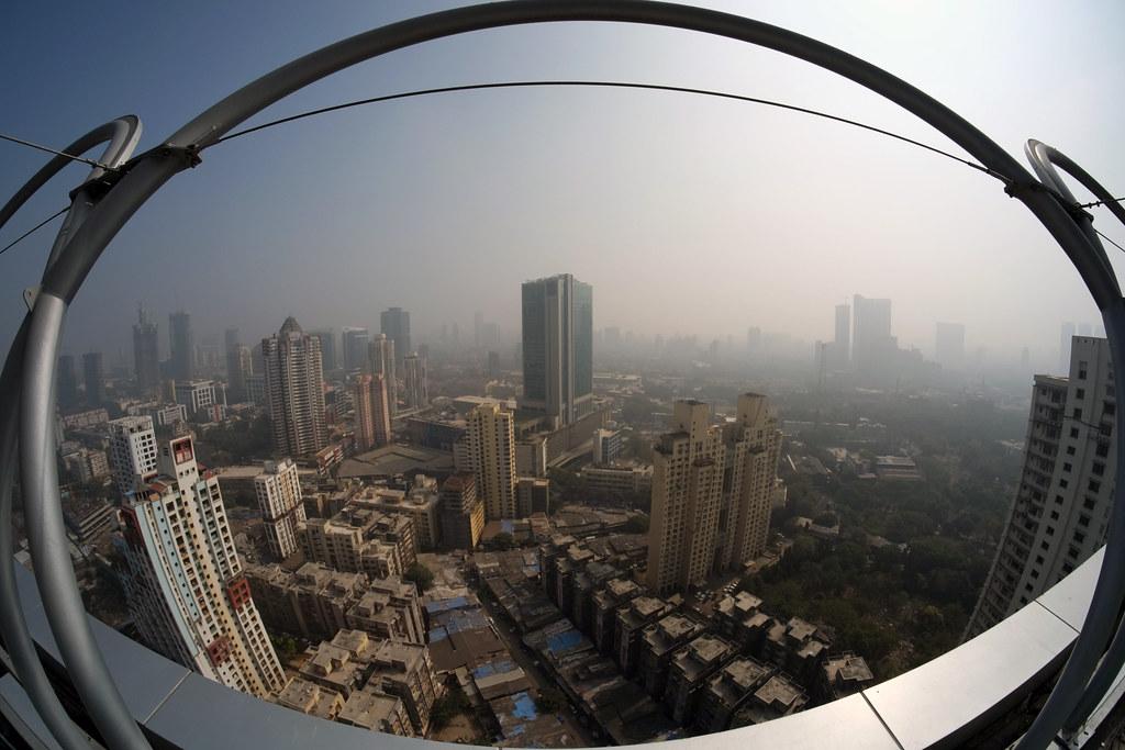 Sitting on top of Mumbai