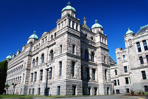 The Rear of the BC Legislative Buildings, Victoria, Vancouver Island, British Columbia, Canada
