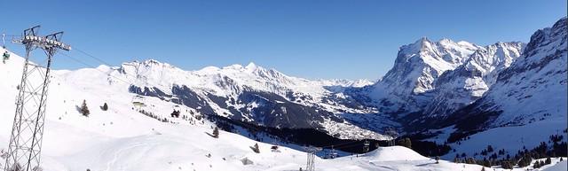 panorama in Kleine Scheidegg