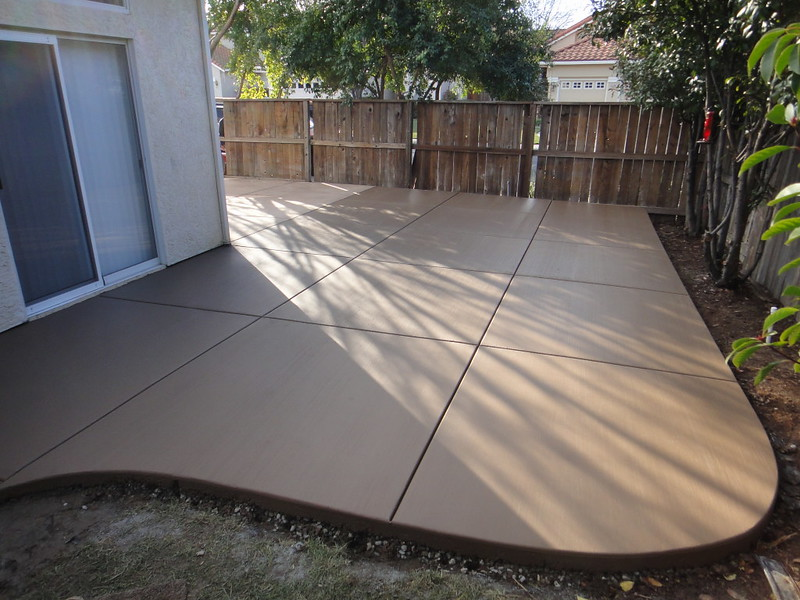 colored concrete patio in vacaville solano county yolo county