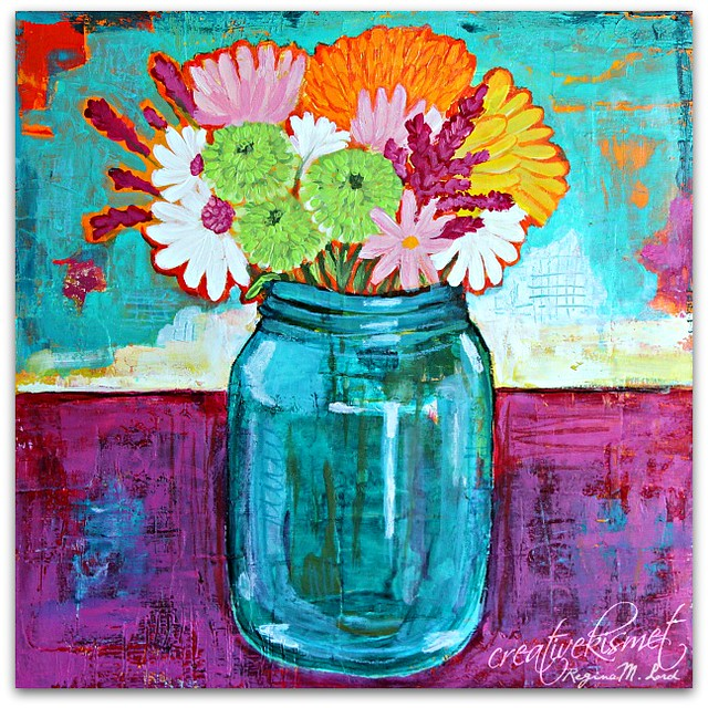 Blue Jar, art by Regina Lord
