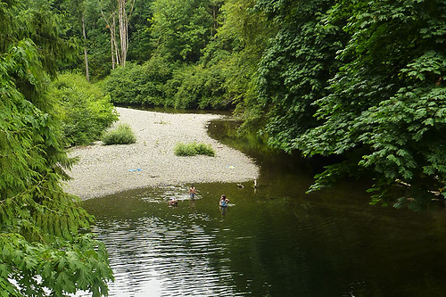 Koksilah River in Bright Angel Park, Cowichan Station, Cowichan Valley, Vancouver Island, British Columbia, Canada