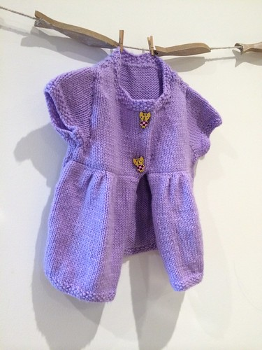 Candied Violet Baby Cardigan