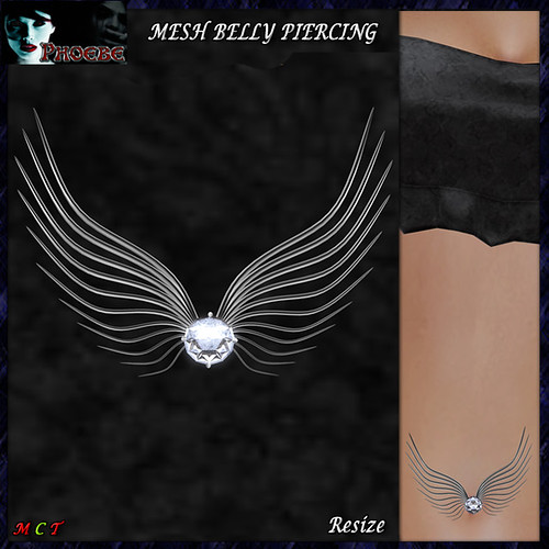 [NEW RELEASE ON SALE!] *P* MESH Angel Belly Piercing ~Silver~