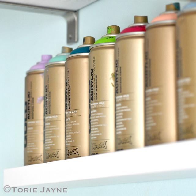 Organised spray paint