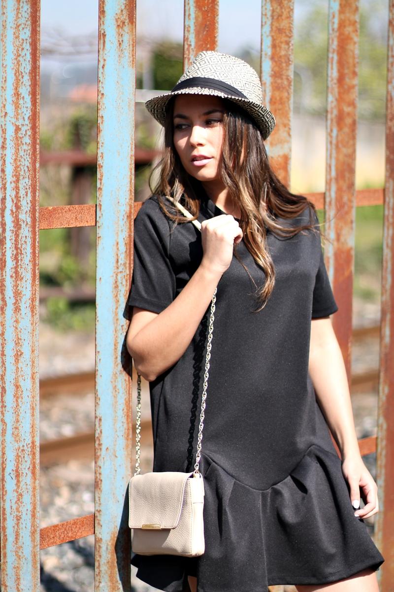 lbd, zara, dress, black