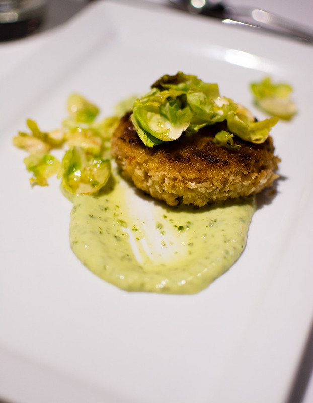 crab cake at The Crossing