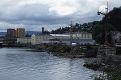 Høyblokkene i Ila med NKL-bygget og Ilsvika gård (1991)