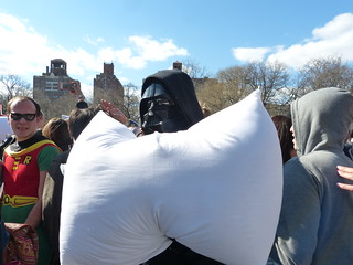 Pillow Fight Day 2014 in Washington Square Park, Manhattan