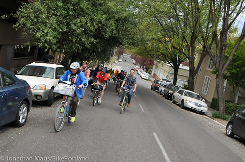 Bike Advisory Committee rides downtown-7
