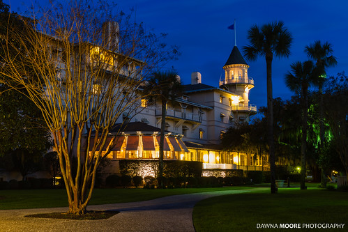 The Jekyll Island Club Hotel at Twilight, Jekyll Island, Georgia