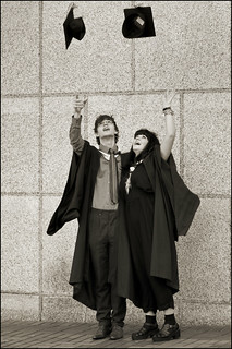 UK - Birmingham - Graduating couple_sepia