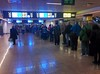 Zurich airport immigration line madness by Wayan Vota