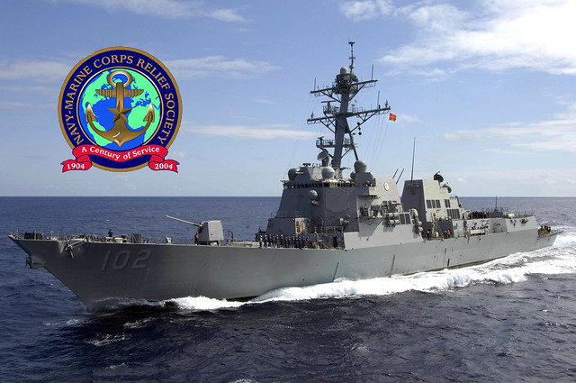 The crew of the guided missile destroyer USS Sampson (DDG 102) raised a total of $7,371 in donations for the Navy and Marine Corps Relief Society (NMCRS), smashing prior year's contributions by double in just two weeks.