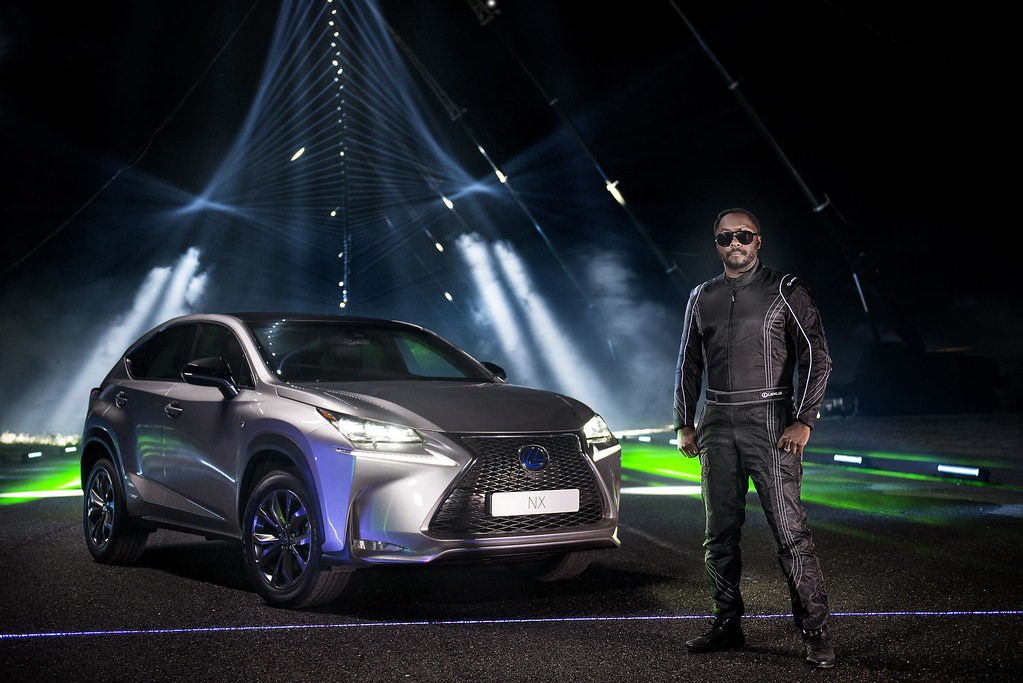 will.i.am and Lexus create a laser and sound spectacular