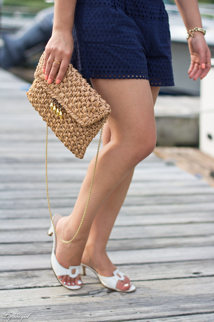 eyelet lace crop top and shorts, straw bag, white sandals-11.jpg