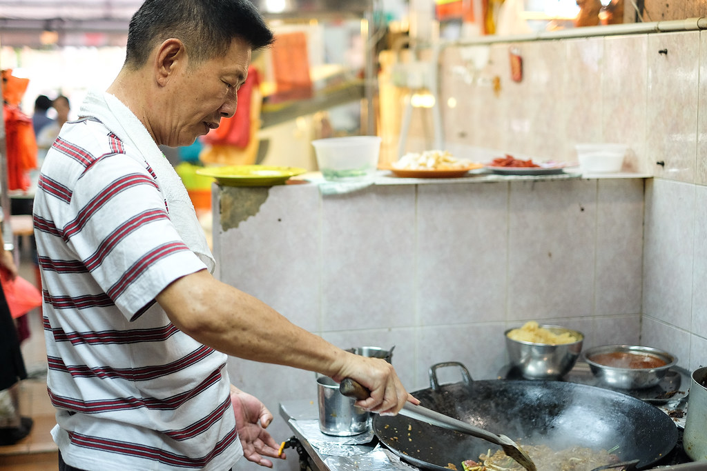 Armenian Street Fried Kway Teow's Owner, Mr Tan