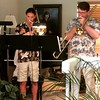 Afternoon jazz trombone concert at  Stew's  house!