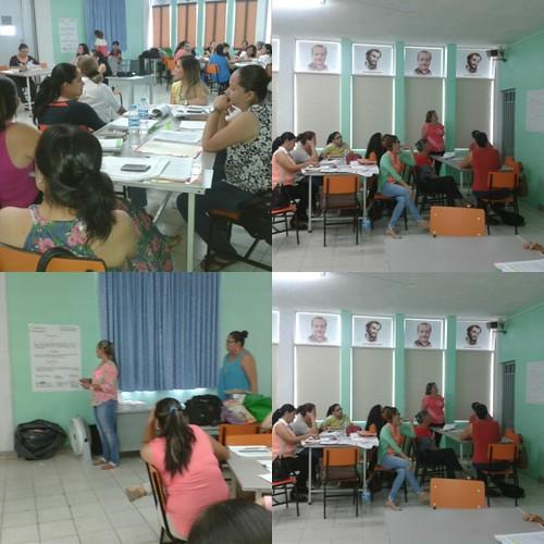 brindando curso del proyecto local, de alfabetización y matematicas