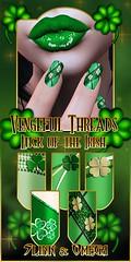 Vengeful Threads - Slink & Omega Nails - Luck of the Irish_ad