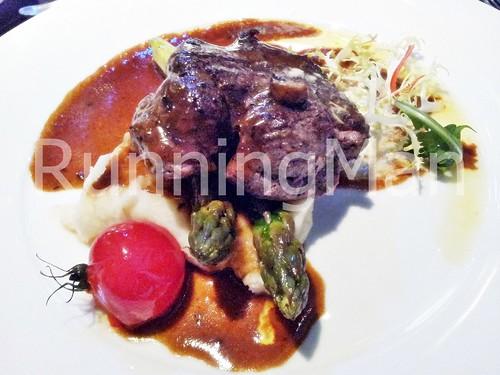 W Hotel Singapore 16 - Seared Beef Tenderloin, Mash Potato, Portobello Mushroom, Asparagus & Whipped Anchovy Butter 02