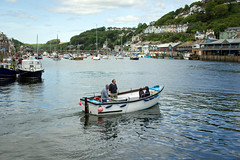 Cross river passenger ferry - Looe, Cornwall