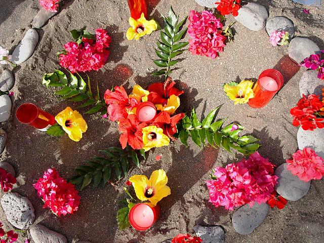 Lucky Flower hole, Noche de San Juan, Midsummer, Puerto de la Cruz, Tenerife