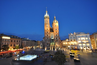 Image of St. Mary's Basilica near Kraków.