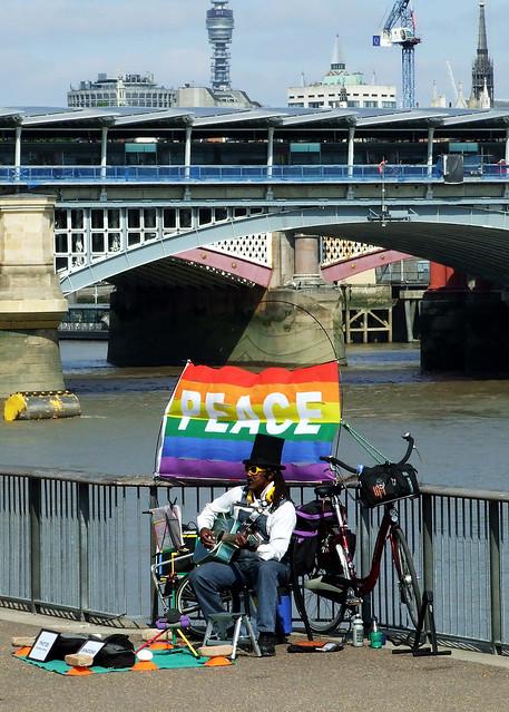 Peace busker