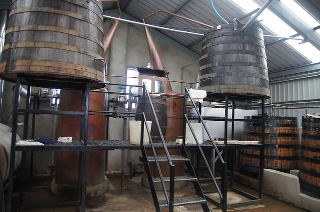 Stills and wormtubs - Abhainn Dearg Distillery