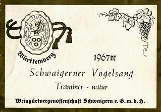 Schwaigerner Vogelsang 1967 (Württemberg)