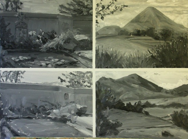 Black and White Value Studies