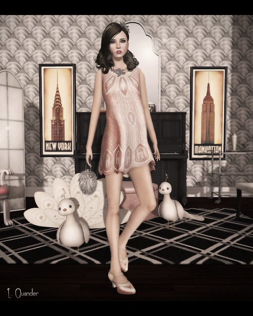 C88 August - The Secret Store - Sequined Flapper Dress V1 - Nude