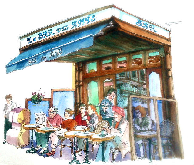 Normandy Holidays Homework #4 - Trouville Le bar des amis