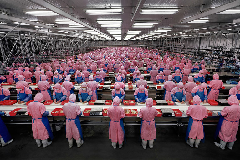 "Edward Burtynsky, 'Manufacturing #17"", Deda Chicken Processing Plant, Dehui City, Jilin Province, 2005. Uploaded onto Flickr Stephanie Uijtdewilligen"