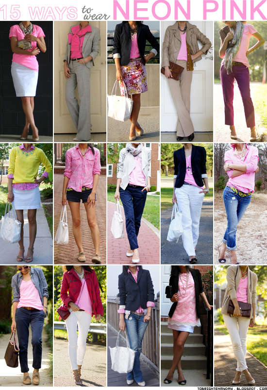 15 ways to wear neon pink
