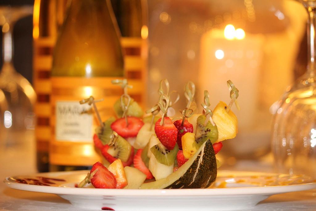 pinchos fruta