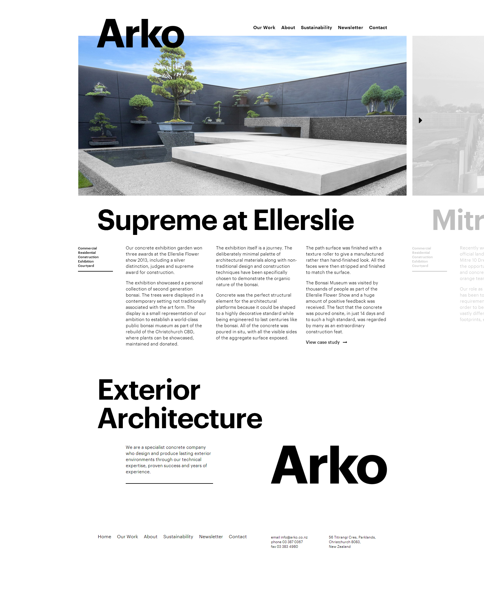 Arko - Clean Architecture Website For Your Inspiration
