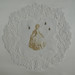 手帕系列No title. 2013. 感光樹酯版印於復古手帕Photopolymer on vintage doilie. 21 x 21 cm