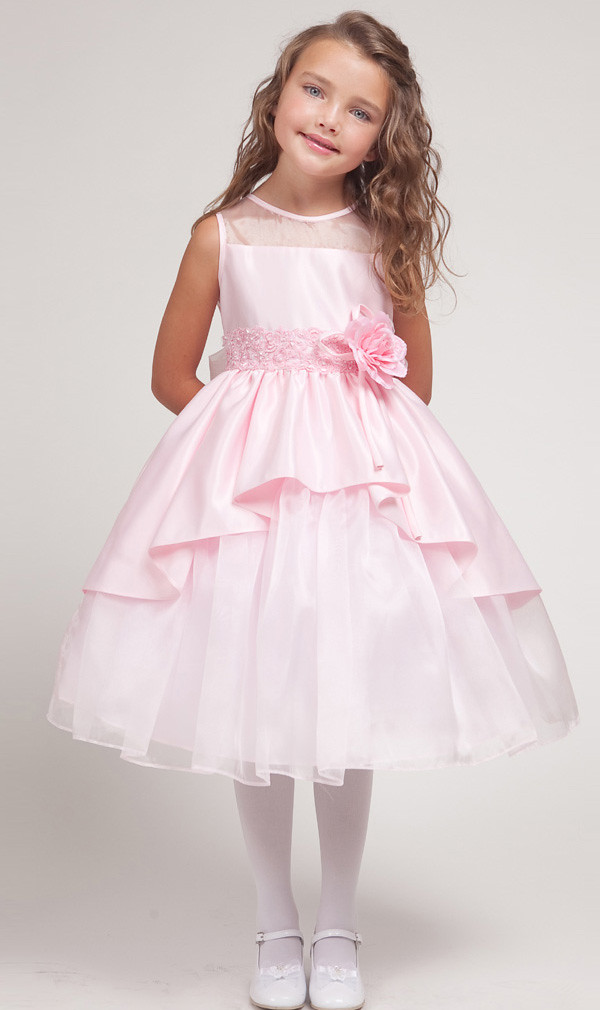ef7f2c1badc3 ... pink prinsesse overlay blomst pige kjoler