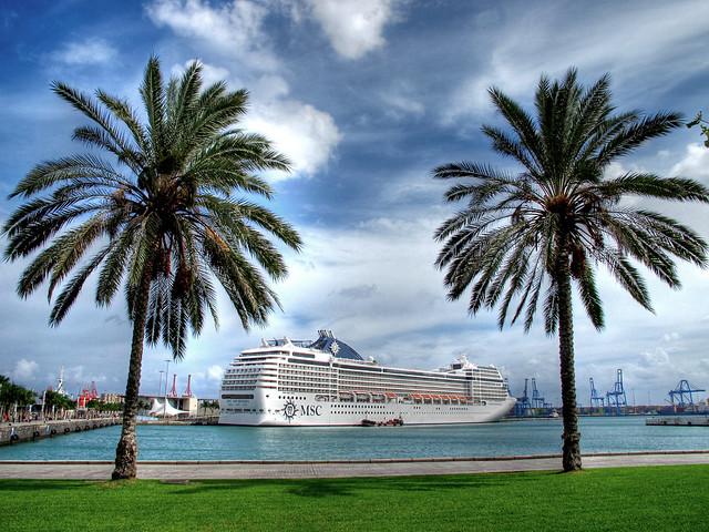 El Crucero MSC Orquestra en Las Palmas de Gran Canaria ( 31-10-2013)