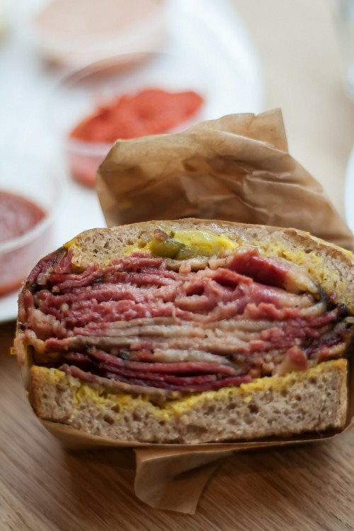 Pastrami sandwich at Frenchie To Go
