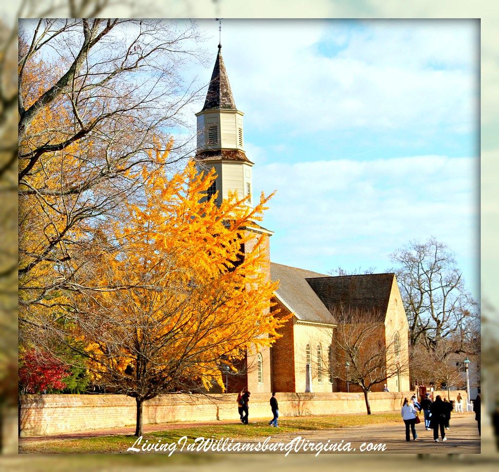 Bruton Parish Church In Fall