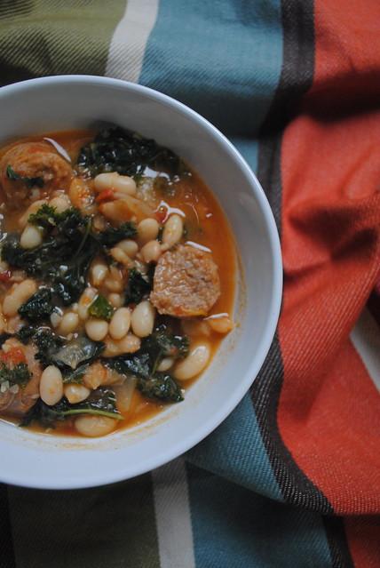 Sausage, Kale, & Navy Bean Soup