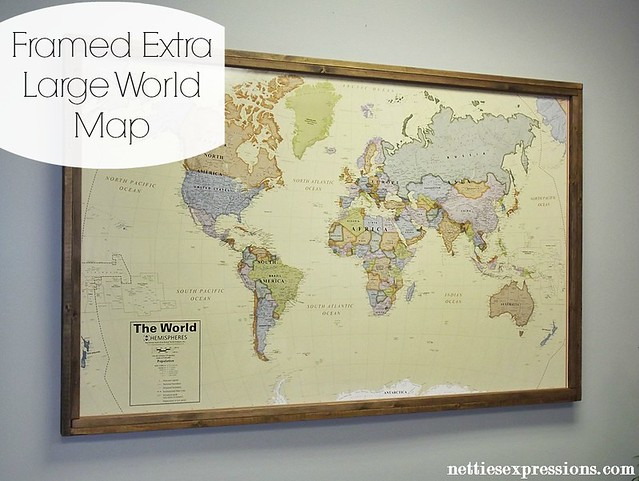 Framed Extra Large World Map 1 Flickr Photo Sharing